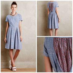 NEW Anthropologie Hidden Blooms Shirtdress by Isabella Sinclair Striped Dress M #Anthropologie #ShirtDress #Casual
