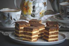 """Prăjitura """"Liliana"""" cu ciocolată și cremă de mascarpone cu caramel • Gustoase.net Creme Caramel, Tiramisu, Cooking, Ethnic Recipes, Desserts, Food, Pies, Pastries, Mascarpone"""