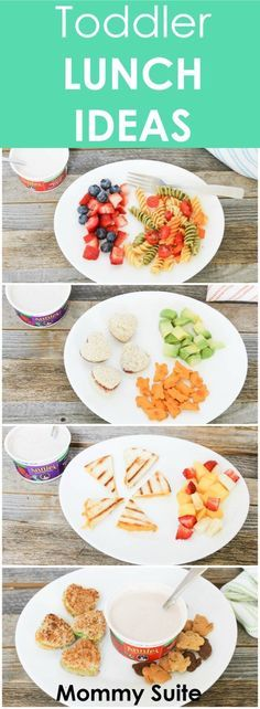 I always feel so boring with lunch for my toddler. Here are a few good ideas! Toddler Lunch Ideas
