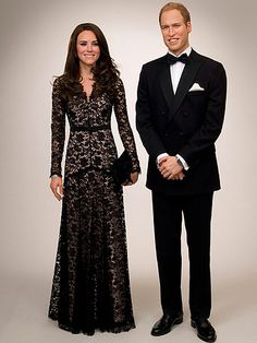 Kate Middleton and Prince William waxwork at Madame Taussauds