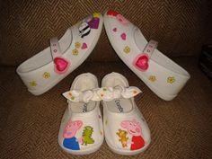 Zapatillas pintadas a mano.Peppa Pig