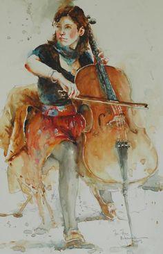 Watercolor Paintings by Bev Jozwiak (American, born 1953)