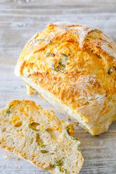 Easy Jalapeno Cheddar Bread is a simple recipe for artisan style bread at home with no kneading or fancy equipment.