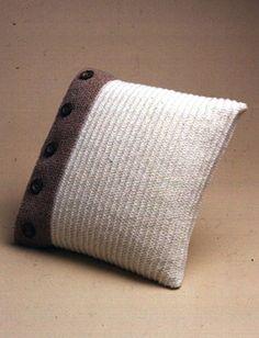 Yarnspirations.com - Patons Buttoned Up Pillow - Patterns  | Yarnspirations