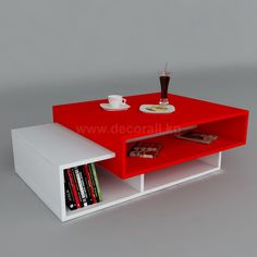 Debussy Coffee Table with Storage 17 Stories Tabletop design: Red Simple Coffee Table, Lift Top Coffee Table, Coffee Table With Storage, Centre Table Living Room, Center Table, Tv Unit Decor, Tv Unit Furniture, Glas Art, Table Top Design