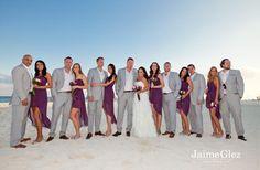 The location,  Playacar Palace Resort, Playa Del Carmen Mexico destination wedding ♥ andrea & trent / #bridal party #beachweddings