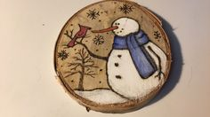 Painted Ornaments, Wooden Ornaments, Holiday Ornaments, Holiday Crafts, Christmas Advent Wreath, Christmas Rock, Christmas Projects, Wood Burning Patterns, Wood Burning Art