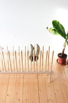 shoe shelf.