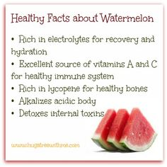 Healthy Facts about Watermelon... really??? I thought they were just delicious!  ;-)