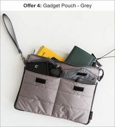 Great for travel... Able to accommodate all gadgets in one pouch with padding...Home Union Gadget Pouch - for Tables and Documents - Grey by Home Union Online - Document Organisers - Housekeeping - Pepperfry Product