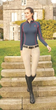 Tredstep Ireland is proud to introduce three new shirt styles, which comprise the Symphony Futura Shirt Collection for equestrians. The beautifully tailored collection includes shirts for both competition and for schooling, and incorporates the best high performance sport fabrics available today to keep riders cool, dry and comfortable. The collection includes three styles, sleeve lengths and color choices to accommodate every rider.