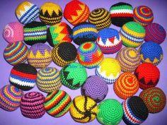 Pelotas Tejidas A Crochet - Malabares - Footbag - Antiestrés ...