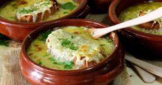 Una deliciosa y reconfortante sopa de cebolla francesa que hará las delicias de tus comensales. La encuentras en mi blog Julia y sus recetas Hot Soup, Ravioli, Crepes, Cheeseburger Chowder, Hummus, Risotto, Mashed Potatoes, Pudding, Pasta