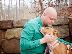 I loved capturing this session that included a family and their 3 Pit Bull dogs.  This image truly captures the bond between dog and owner.  Captured at Compton Garden's in Bentonville, AR