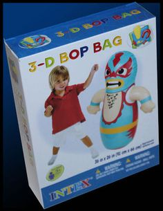 NEW KIDS INFLATABLE LUCHADORES LUCHA LIBRE WRESTLER PUNCHING BOP BAG | eBay