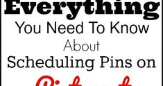 Absolutely everything you need to know about scheduling pins on Pinterest including tips and resources for free pins schedulers.