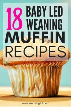 These baby led weaning muffins are great when introducing solids after 6 months. They make great finger food or first foods for babies with no teeth - Baby led weaning recipes, meals and starting solids -
