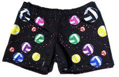 Volleyball Spandex Shorts - Volleyballs