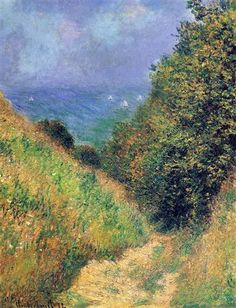 """""""Path at Pourville 02"""" -- 1882 -- Claude Monet -- French -- Oil on canvas -- No further reference provided"""