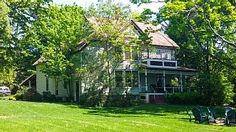 This lovely victorian farmhouse/retreat is set in the the rolling hills above Cayuga Lake, just 15 minutes outside of downtown Ithaca. It is a very special place with 6 acres of beautiful grounds, a large 40 foot ...