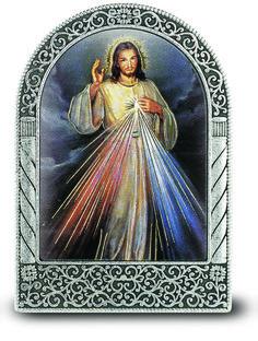 "3"" Divine Mercy Metal Plaque #DivineMercy #CatholicGifts #Art"