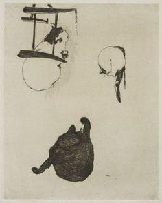 Les chats, 1869    EdouardManet