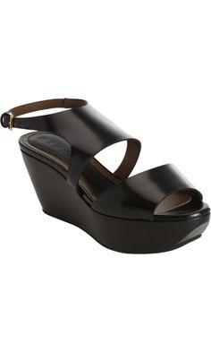Marni Slingback Wedge Sandal