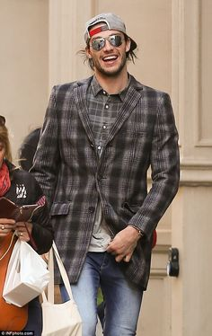 Andy Carroll swaps the east end of London for shopping in New York with partner Billi Mucklow as he enjoys his week off