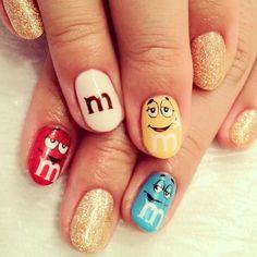 m&m   #nail #nails #nailart