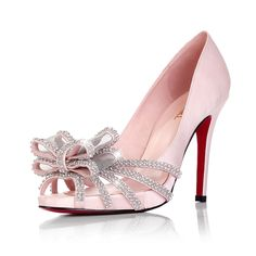 $70.23 pink rhinestone high-heeled shoes! Cute as a button, but ridiculously expensive! :)