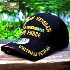 HAN WILD WW2 Vietnam Vintage Cotton Gorras Memorable Air Force Cap Snapback  Letter Tactical Baseball Cap US Army Hats 48f17346866d