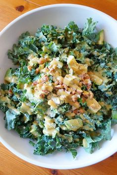 Honey Mustard Kale Salad | tomatoboots.co | #creamy #kale #mustard