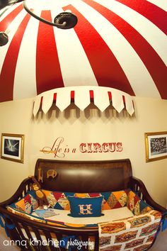 Vintage Circus Inspired nursery....this is the exact theme we would do if we were to have a baby boy :)