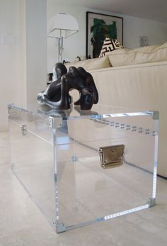 20 Chic Acrylic Coffee Tables Living rooms Trunk coffee tables