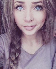 Light Ash Brown Hair #blueeyes #eyelashes #pretty