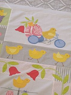 A block from our Chicks Jubilee Quilt sample! Kits available at www.hollyhillquiltshoppe.com