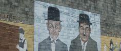 Mural in Harlem, Georgia Laurel and Hardy