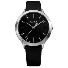 1f4878ef95e AFLEX 5705 446 Stainless Steel with Leather Black