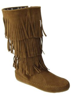 TG 13 Womens 3 layer Fringe Moccasin Mid-Calf Boots Tan *** If you love this, read review now : Boots