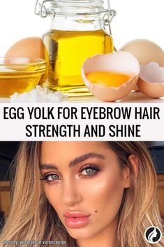 Egg Yolk For Eyebrow Hair Strength And Shine Explore tips on how to grow eyebrows naturally and quickly. Home remedies with coconut oil, with Aloe Vera, etc. may grant thicker brows in a week. Beauty Tips In Hindi, Best Beauty Tips, Natural Beauty Tips, Homemade Face Moisturizer, Beauty Hacks Eyelashes, Vaseline Beauty Tips, Aloe Vera For Skin, Avocado Face Mask, Thick Brows
