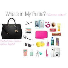 """What's in My Purse *Summer Edition*"" by thelemondepartment on Polyvore"