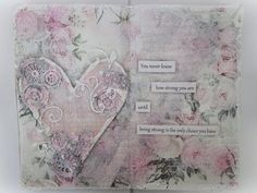 "#ThinkPinkArt - ""Be strong"" - An art journal page from start to finish - YouTube"