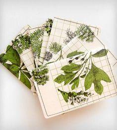 Vintage Talking Leaves Wallet by Heathered on Scoutmob Shoppe  -  wallet, card case, plants.     lj