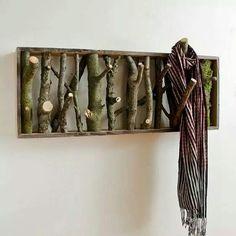 Real tree coat rack