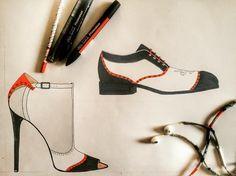#shoemaking #shoemaker #shoedesign #shoesofinstagram #shoes #shoeoftheday #heelsdrawing