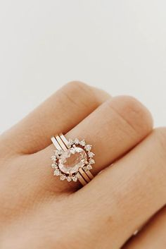 18 Morganite Engagement Rings Were Are Obsessed With ❤ Morganite engagement…