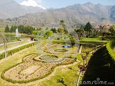 Landscaped gardens in Kashmir