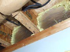 Rim Joists Insulated with Foam Board Insulation