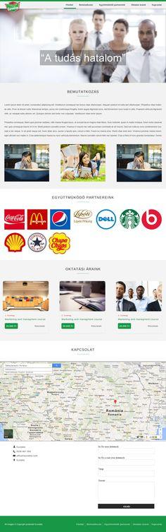www.eurodito.hu - Oktatással foglalkozó cég weboldala