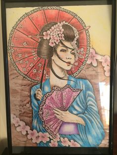Gueixa do tana Japanese Geisha, Japanese Art, Love Tattoos, Tatoos, Dragonfly Drawing, Geisha Art, Samurai Art, Asian Art, Art Images